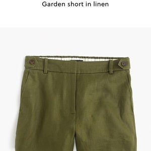 J. Crew NWT linen garden shorts black